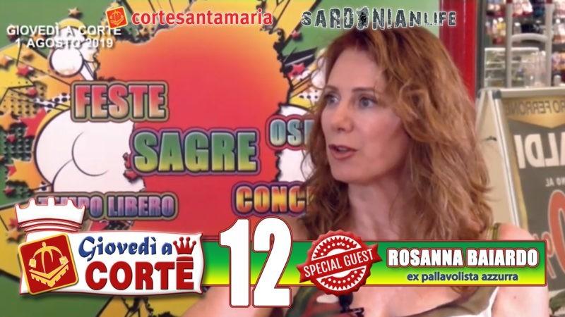 """In questa puntata di """"Giovedì a Corte"""" parliamo di pallavolo femminile con Rosanna Baiardo, prima pallavolista sarda ad entrare nella Nazionale azzurra."""