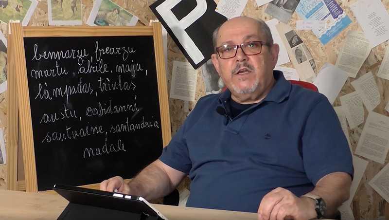 Tissi, progetto Con.NOI: i nomi dei mesi in lingua sarda