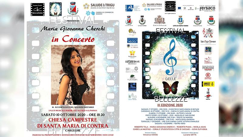 Cargeghe: Maria Giovanna Cherchi ospite del Festival delle Bellezze